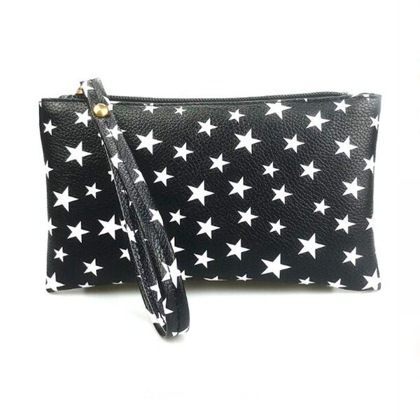 1Pcs 2018 Hot Sale Pu Leather Girls Handbag Black Small Long Coin Purse Organizer Wristlet Hand Bag Wallet for Women and Men
