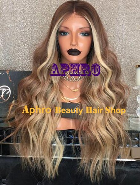 "Luxury Medium Brown Silk Top Glueless Full Lace Wigs With Highlights 5""x5"" Brazilian Hair 20-30 inch 180% Density Wholesale For Black Women"