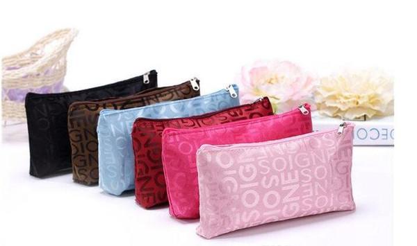 best selling Multi-color Korean fashion cosmetic bag designer letter storage bag Travel Waterproof Wash Bags