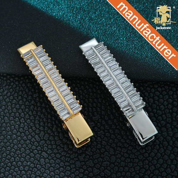 Scarecrow hair accessory diamond synthetic zircon side clip bangs clip Korean hairpin duckbill clip small leaf crystal