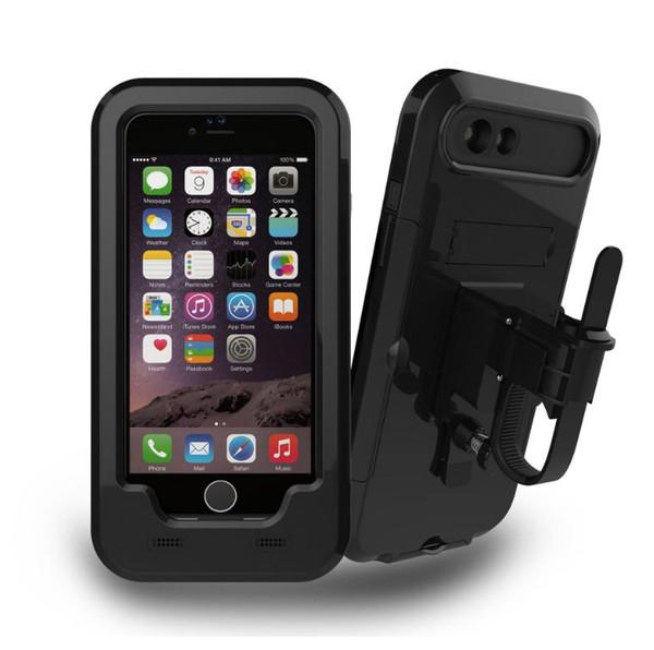 Bicycle Mount iPhone Waterproof Case, Bike Motorcycle Rack Handlebar Motorcycle Holder Cradle Rugged Cover