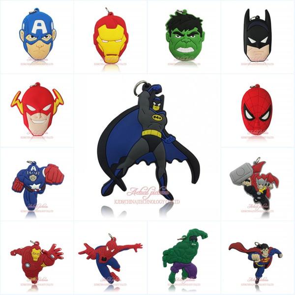 Livraison Gratuite Marvel Avengers Super-héros de Bande Dessinée Figure PVC Pendentif Charms Fit Pour Porte-clés Collier Accessoires Home Decor Enfants Partie Cadeau
