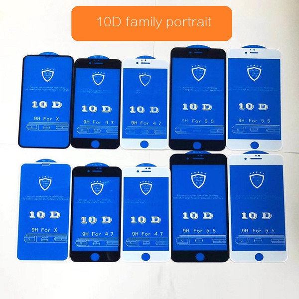 For Iphone 8plus Tempered Film All-inclusive Hard For Iphone 6p Glass Film Full Coverage Ix Surface Full Screen New Etched 10d Film