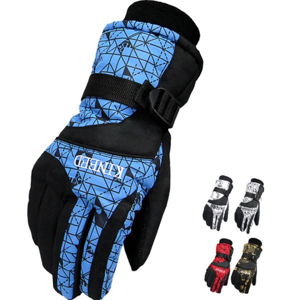 Лыжные перчатки зимние оптовые мужчины и женщины езда открытый альпинизм лыжный велосипед перчатки