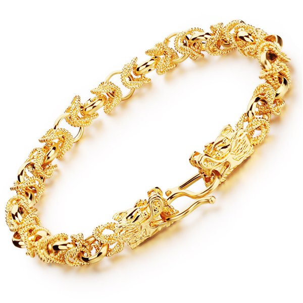 Recommended stores exquisite 18K gold-plated bracelet jewelry double tap domineering personality KS445