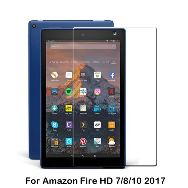 9H HD Clear Premium Tempered Glass Screen Protector film For Kindle Fire HD10 8 Kids Edition 2018