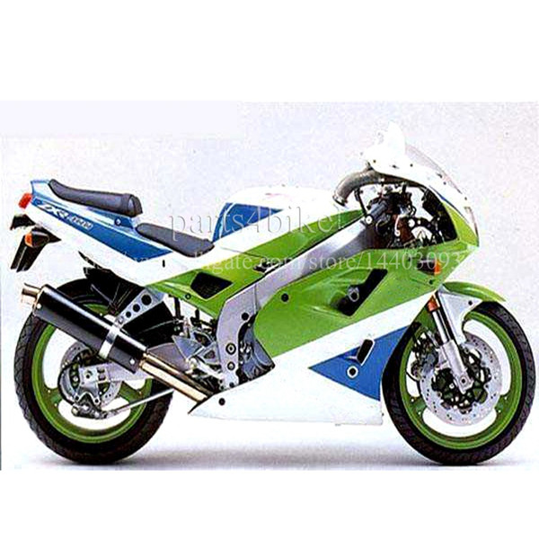 23colors+5Gifts Motorcycle silver green bodywork Motorcycle Fairing for KAWASAKI ZXR400 Full fairing kits ZXR 400 ABS Plastic Bodywork Set