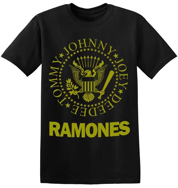 Ramones Футболка Прохладный Старый Группа Рубашки Черный Классический Рок-Группа Футболка 1-A-095 С Коротким Рукавом Хлопок Мода Бесплатная Доставка