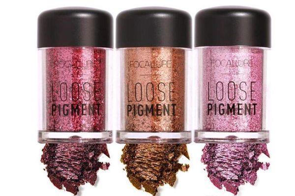 Новый FOCALLURE 12 цветов блеск тени для век косметический макияж Алмаз губы свободный пигмент порошок DHL F