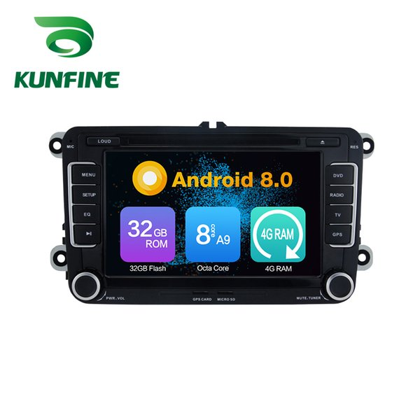 Octa Core 4GB RAM Android 8.0 Car DVD GPS Navigation Multimedia Player Car Stereo for VW GOLF(MK6) 2009-2011 Radio Headuint Wif