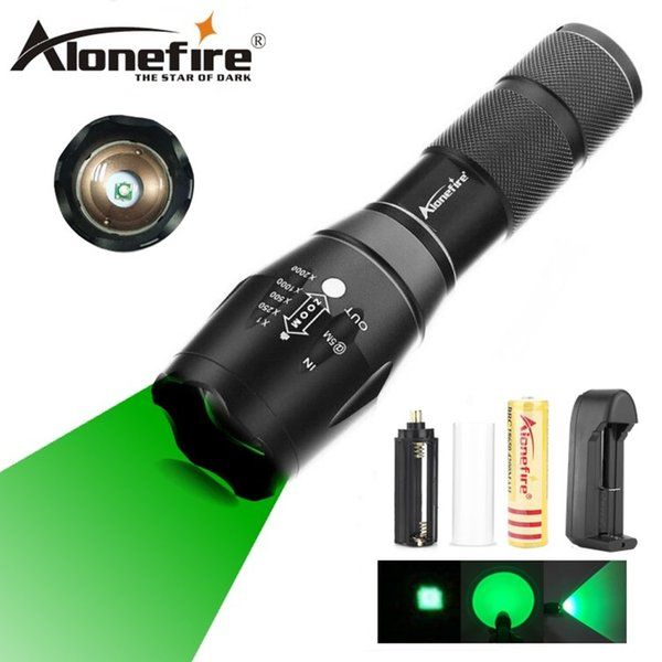 AloneFire E17 Tactical Flashlight XPE Green LED Torch Flash Light Lantern For Fishing Outdoor Flash lamp ro 1X18650 battery