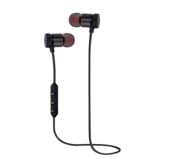 M9 Mıknatıs Kablosuz Bluetooth Kulaklıklar Kulaklık handsfree Kulaklık Perakende Kutusu ile Spor Müzik için Kırmızı Siyah için