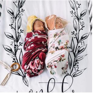 Ins Hot Baby Two pieces on the bed set pillow case bed sheet Photography Blanket Baby Number Printed Reactive dyeing Infant Props BHB39