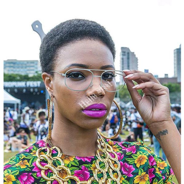 Short cut none lace afro kinky curl human bob brazilian cheap wig with baby hair glueless wigs with bangs for black women