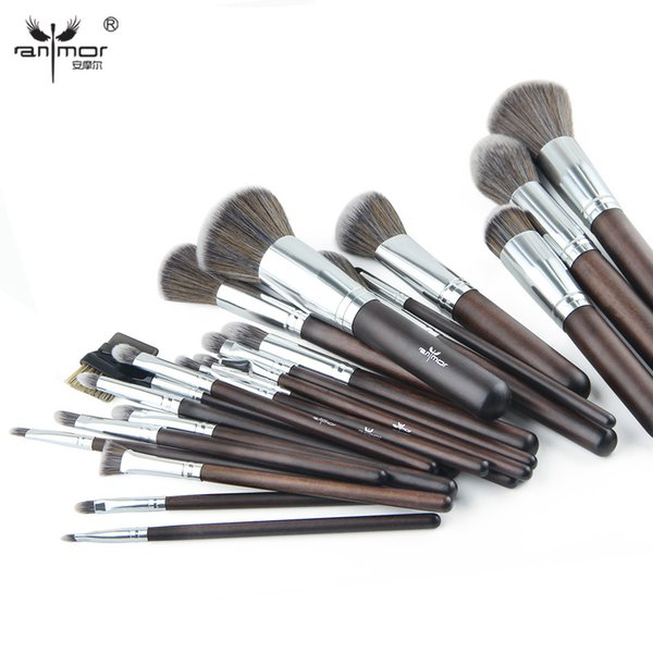 Anmor 23 stücke Make-Up Pinsel Set Professionelle Synthetische Make-Up Pinsel Weichen Puder Erröten Lidschatten Make-Up-Tools GR002