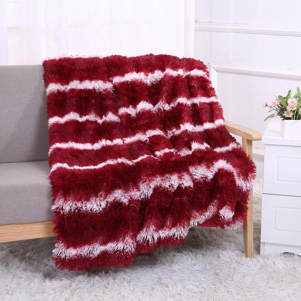 XC USHIO Rechteck weiches warmes Bett Sofa Throw Blanket Bettwäsche Blatt mit langen Shaggy Durable 130 * 160 cm 160 * 200 cm Weihnachtsgeschenk