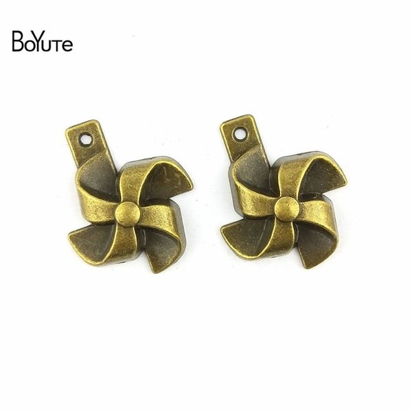 BoYuTe (40 Pieces/Lot) 21*26MM Antique Bronze Plated Zinc Alloy Windmill Vintage Charms Pendant Diy Fashion Bracelets Jewelry Accessories
