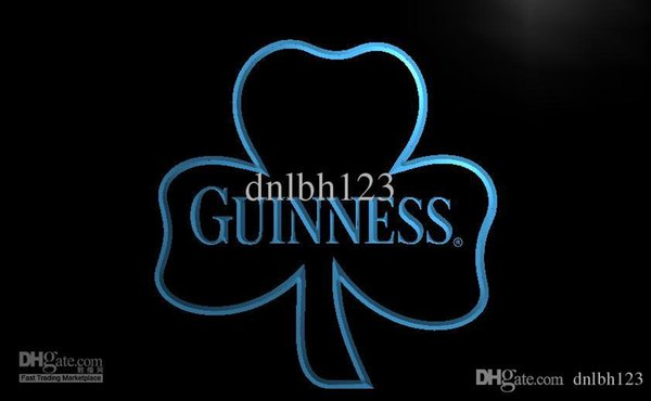 LA018- Guinness Shamrock Beer Bar Club Neon Light Sign