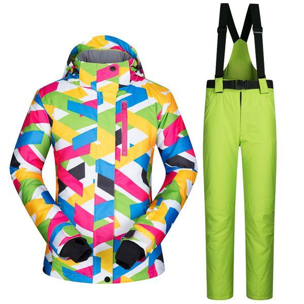 winter snow clothing ski suits women snowboard pants skiing jackets keep warm waterproof female skiwear outdoor snoboarding