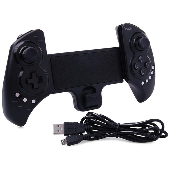 Wireless Telescopic Bluetooth Controller Joysticks Gamepad for Android iPad IOS Phone Samsung Galaxy S7/S7 edge S6 S5 iPad 5 4 etc (Black)