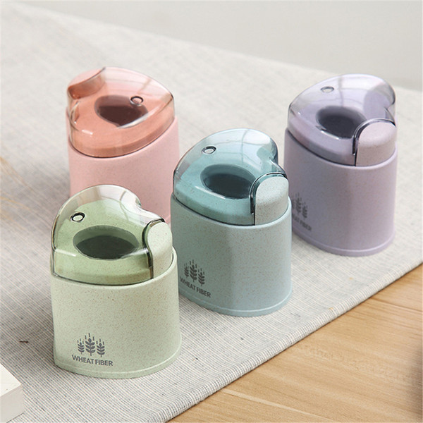 Automatic Toothpick Storage Box Wheat Straw Holder European Plastic Toothpick Container Dispenser Pocket