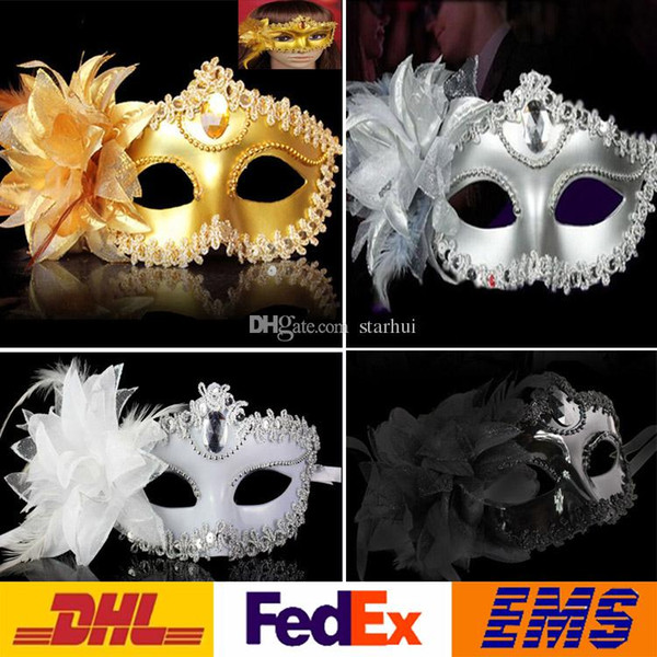 2017 Party Mask Sexy Halloween Masquerade Eye Mask Venetian Princess Party Makeup Costume Princess Masks for adults 4 Color WX-C05