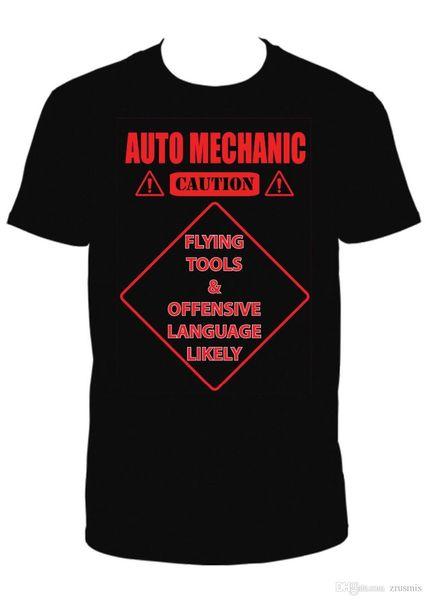 AUTO MECHANIC RED T.SHIRT Moda 2017 Summer Print camisetas O cuello manga corta
