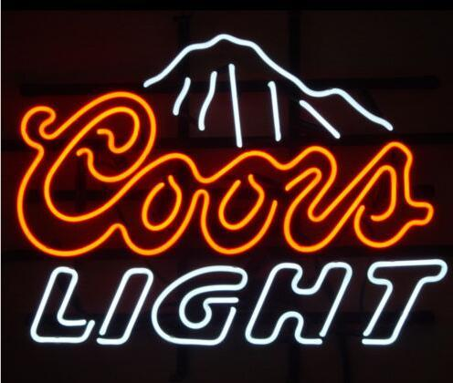 """Custom New COORS LIGHT MOUNTAINS Real Glass Neon Sign light Beer Bar Sign Send need photo 19x15"""""""