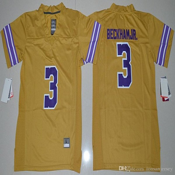 new product 71a81 a8f41 2018 2017 Youth Lsu Tigers Odell Beckham Jr. 3 Kids Boy Children College  Football Limited Jersey Purple Size S,M,L,Xl2016 Youth Lsu Tigers Odell  From ...
