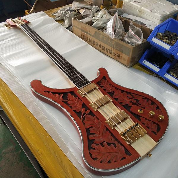 4 strings Electric Bass guitar!rich neck thru body!