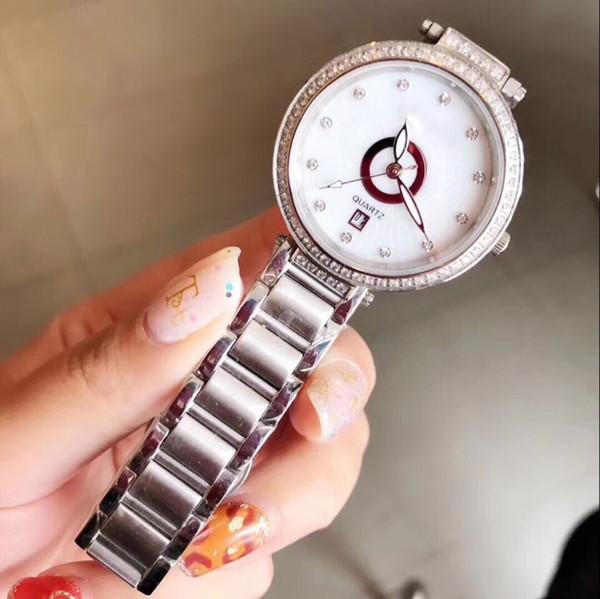 data diamante moldura prata quartzo best-seller barato 32 milímetros caso moda nova marca mulheres relógio de aço inoxidável relógio de pulso das mulheres relógios