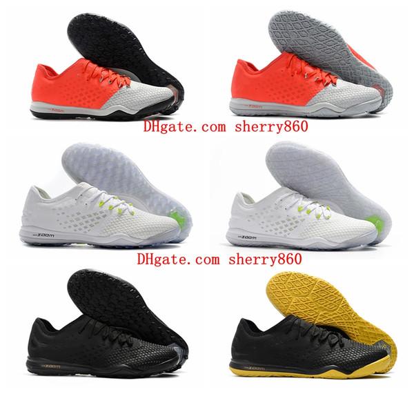 2018 new arrival Mens Low soccer cleats Hypervenom PhantomX III Pro TF IC soccer shoes Turf Zoom Hypervenom Indoor football boots hot