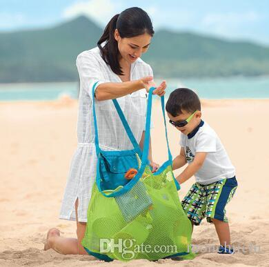 Hot Sell Kids Baby Sand Away Carry Beach Treasures Toys Pouch Tote Mesh Childrens Storage Bag