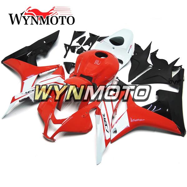 Carrozzeria a iniezione ABS nero bianco rosso per Honda CBR600RR F5 Anno 2007 2008 07 08 Kit carenatura completa Carene nuove