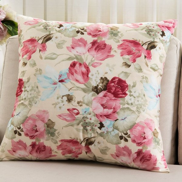 Flowers Cushions Cover Home Decor Pillows New Signature Cotton Cecorative Throw Pillows Decor Pillow C Outside Patio Cushions Outdoor Patio