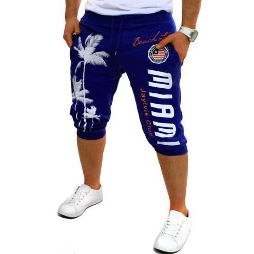 Shorts Mens Tights Compression Palm Print Design Bermuda Short Men Homme Shorts 3xl New Hot Fashion