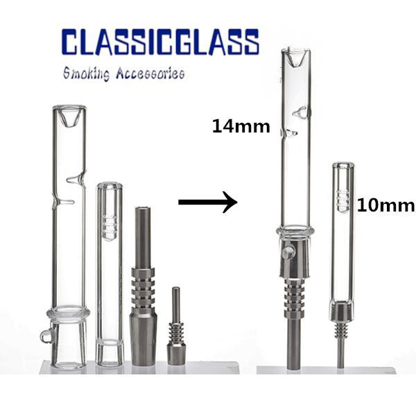 Комплекты NC Нектар WAX Dab Rigs Kit с 10-миллиметровым 14-миллиметровым соединением Маленькие нефтяные буровые установки Мини-комплект Стеклянная труба для воды