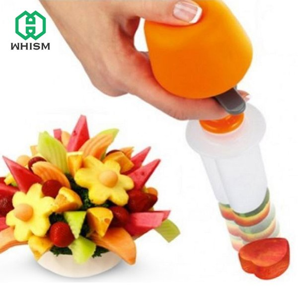Whism Diy Plastic Canape Cutter Fruit Shaper Molds Maker Vegetable Food Salad Carving Desert Cake Tool For Party Festival