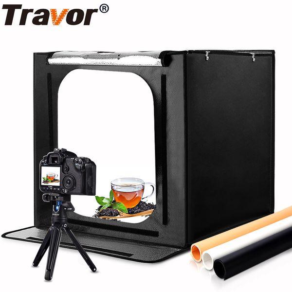 wholesale 60*60cm 24 inch portable mini photo studio box softbox 46W 3400LM White Light Photo Lighting Studio Shooting Tent Box Kit