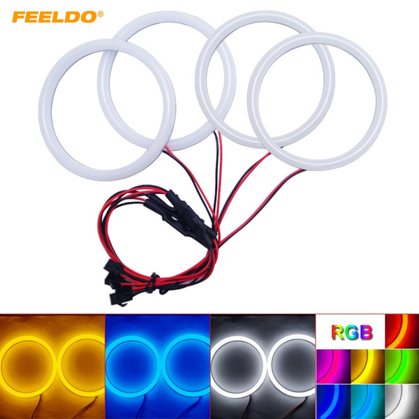 FEELDO Car Xenon Cotton Angel Eyes Halo Ring Light DRL For BMW E46 Coupe 2D (04+)/E46 Cabrio/Z3 Headlight #2238