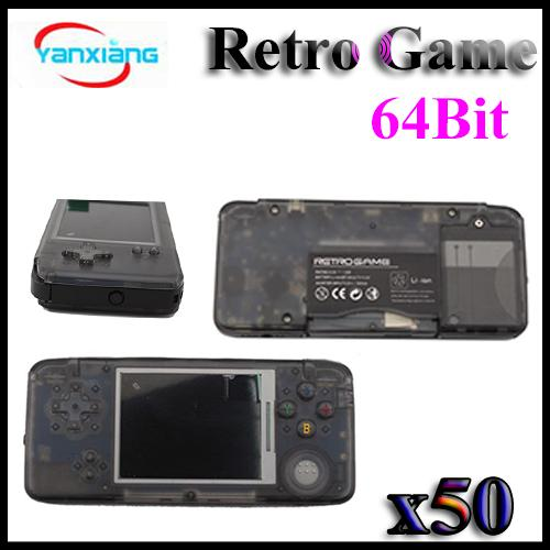 50PCS New Arrival Retro Game Console 64Bit AV Output Video Games Consoles Support GBA SFC NES SEGA Games With Box DHL YX-GBA-6