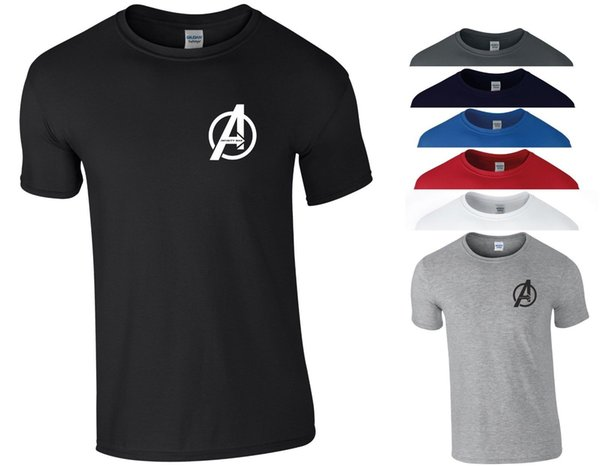 Avengers Infinity War T Shirt Small A Logo Marvel Iron Man Thanos Groot Gift Top Funny free shipping Unisex Casual Tshirt