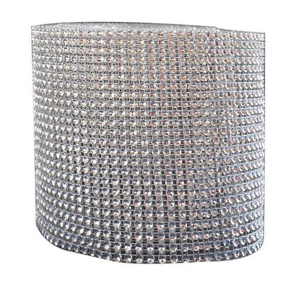 Tulle Rolls Mesh Trim Bling Diamond Wrap Cake Roll tulle 1 yard/91.5cm Crystal Ribbons Party Wedding Decoration party supplies