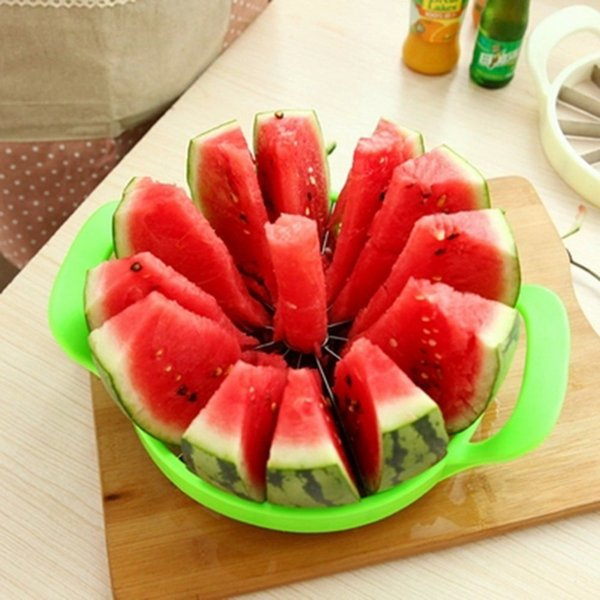 Multi-purpose Kitchen Gadgets Watermelon Slicer Melon Cantaloupe Cutter Knife 12 Blades Stainless Steel Fruit Cutting Slicers