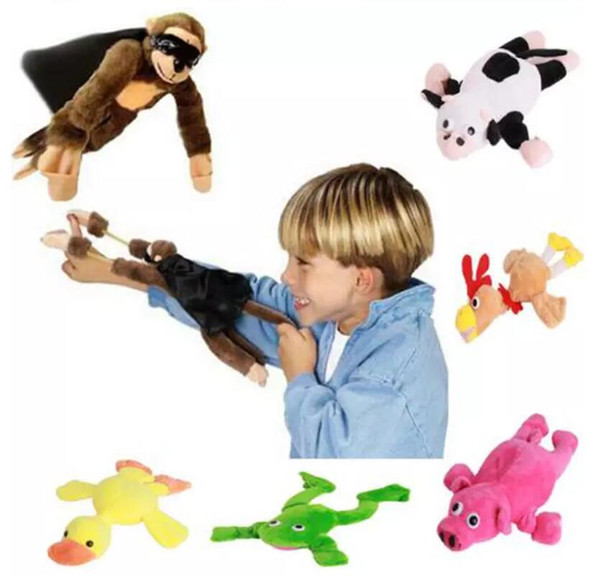 Flying Animal Screaming Slingshot Plush Soft Toy Child Fantastic Funny Flying Monkey Screaming Slingshot Plush Toy