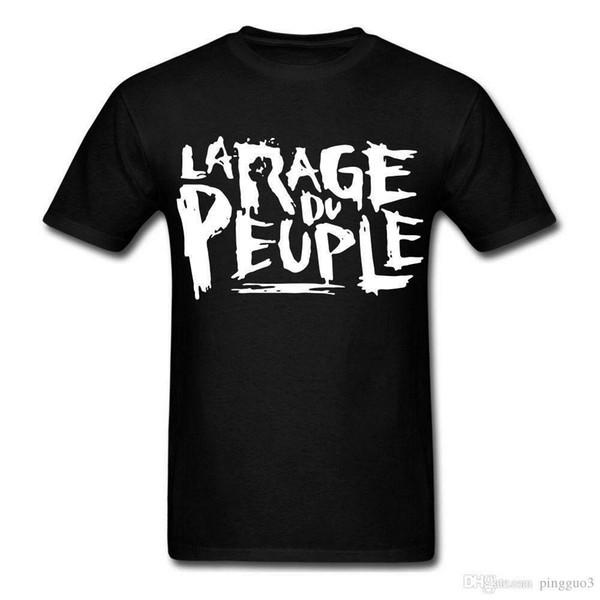 La Rage Du Peuple кулак правительство анархия революция графический рубашка футболка печатных футболки с коротким рукавом Битник Tee