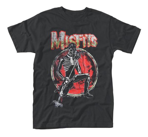Misfits Bones Microfone Pose Rock off-line Männer T-Shirt Herren