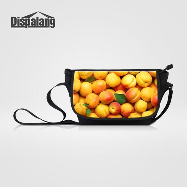 Dispalang 3D фрукты печати Messenger сумки для Wome мужчины повседневная Crossbody сумка дети школа сумки на ремне девушки большая сумка