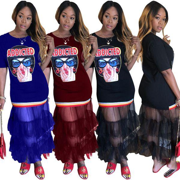Vestidos Dames À Manches Courtes D'été Imprimer Robe O Cou Plissée Sexy Club Party Dress Femme Élégante Soirée Longue Robe