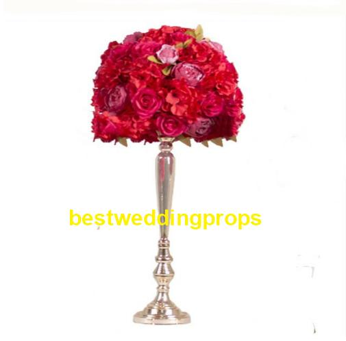 New style Metal Candle Holders Flower Vase Rack Candle Stick Wedding Table Centerpiece Event Road Lead Candle Stands best0161